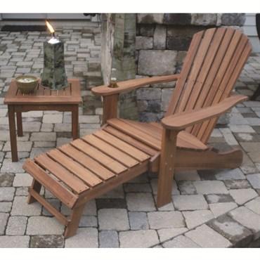 Outdoor Interiors Eucalyptus Adirondack Chair W Drink