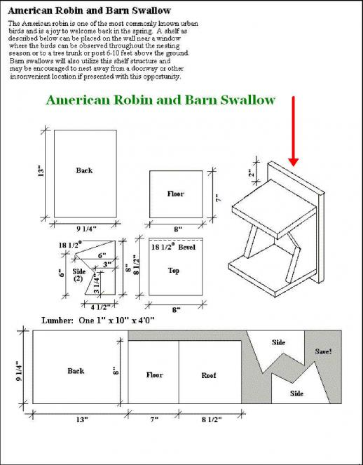 birdhouse plans robins