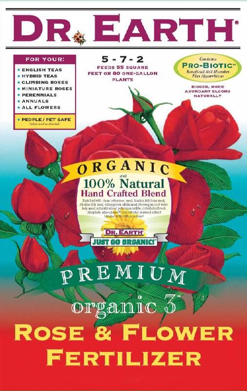 Dr earth 25 organic 3 rose flower fertilizer for Fish meal fertilizer