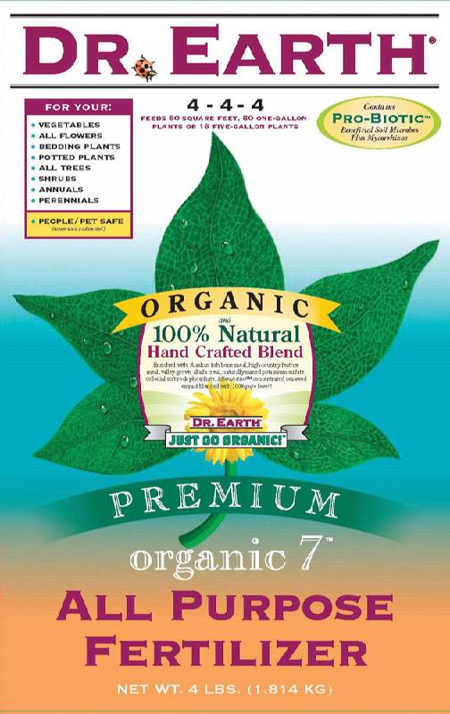 Dr earth 25 organic 7 all purpose fertilizer for Organic fish food