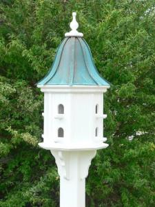 Copper Patina Roof Birdhouse In Vinyl Pvc 14 Inch