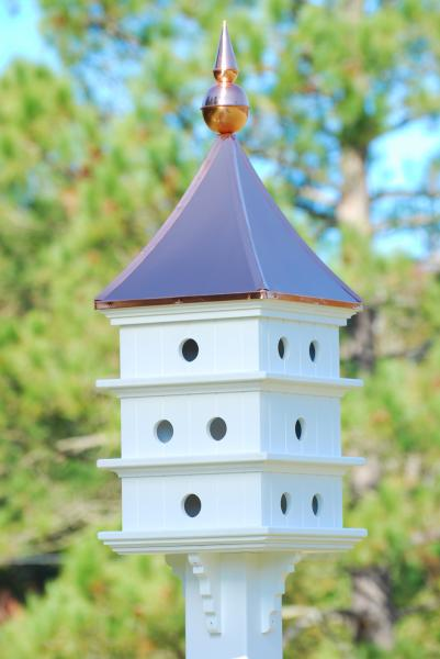 Shiny Copper Roof Purple Martin Birdhouse-Vinyl 52H x18D