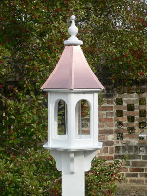 Bright Copper Roof White Vinyl Birdfeeder Bc 10 Quot