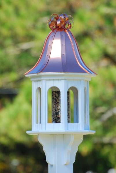 Coppercurlybf14 8 Bccurly Jpg Bright Copper Roof Bird Feeder