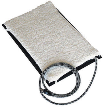 farm innovators 24 x 29 plastic heated pet mat with fleece cover best price. Black Bedroom Furniture Sets. Home Design Ideas