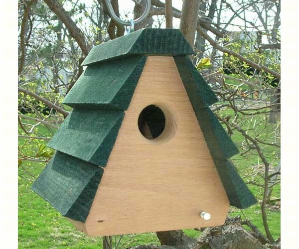 A Frame Wren Birdhouse With Green Roof Best Price