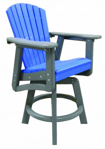 weather all adirondack style swivel counter height chair best price