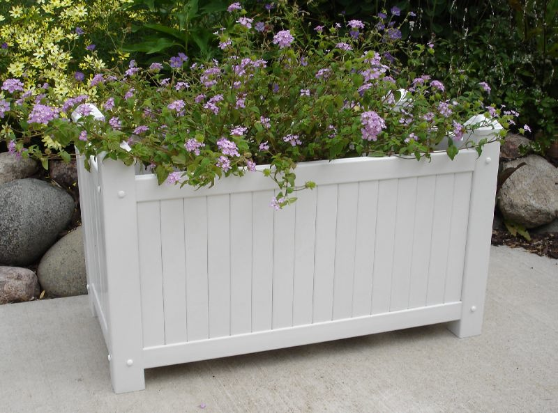 Landscaping With Large Planters : New dura trel large white lattice garden planter box for