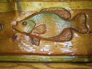 Hand Carved Wood Fish Wall Art